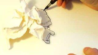 Artista usa sombras para criar desenhos artísticos