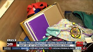 Delano Police Department collecting backpacks for students