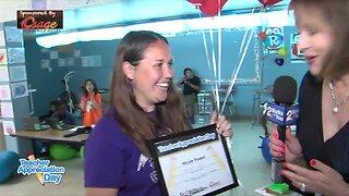 Teacher Appreciation Day Surprise: Nicole Powell, Gilcrease Elementary