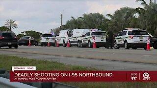 Deadly shooting on I-95 in Jupiter causes major northbound traffic delays