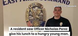 Henderson police officer receives kindness award
