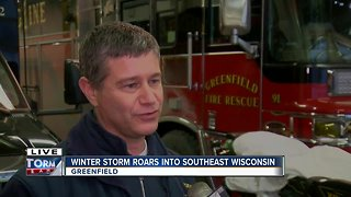 Greenfield fire chief asks citizens to watch for firefighters during snowstorm