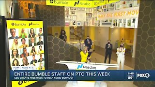 Bumble gives its employees the week off to combat burnout from the COVID-19 pandemic