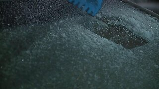Clean the ice off your car before heading outside