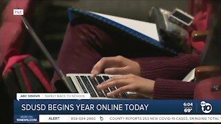 SDUSD begins school year online