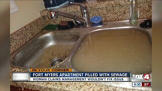 Fort Myers apartment filled with sewage
