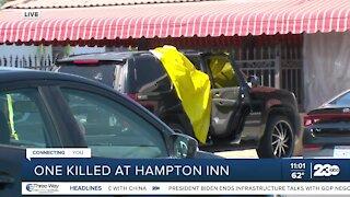 BPD investigating deadly shooting near Hampton Inn in Central Bakersfield