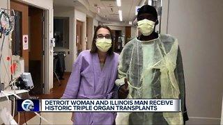 Detroit woman and Illinois man receive historic triple organ transplant