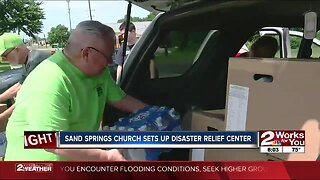 Sand Springs church creates distribution center for flood victims