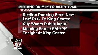 MLK Equality Trail meeting