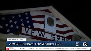Local VFW Posts brace for pandemic-related restrictions