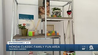 Family fun area available this year at the Honda Classic