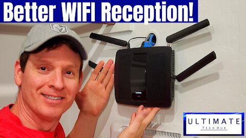 HOW TO MOUNT A WIRELESS ROUTER TO THE WALL -DIY - HIDE WIRES BEHIND THE WALL!-BETTER WIFI RECEPTION