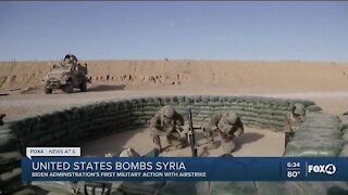 U.S. launches airstrikes in Syria