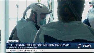California breaks one million case mark