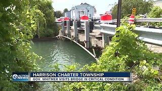 Gov. Whitmer visits bridge in critical condition