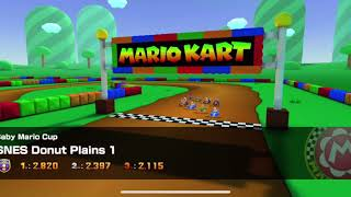 Mario Kart Tour - SNES Donut Plains 1 Gameplay (Baby Mario Cup)
