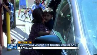 Many young migrant kids reunited with their parents