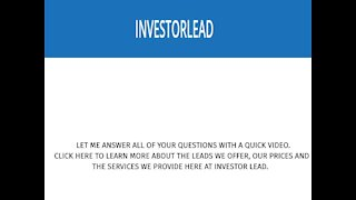 Real Estate Investor Leads