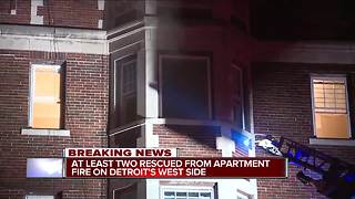 At least two rescued from apartment on Detroit's west side