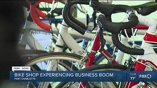 Bike shop experiencing business boom