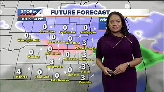 Mostly sunny to partly cloudy Christmas Eve