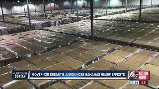 Governor DeSantis announces Bahamas relief efforts