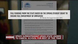 DPSCD superintendent urges state leaders to cancel school for the rest of the year