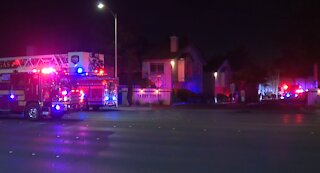 Police, fire crews battle flames at condominiums in east Vegas