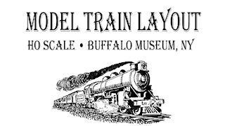 Model Train Layout, HO Scale, Buffalo Museum, NY