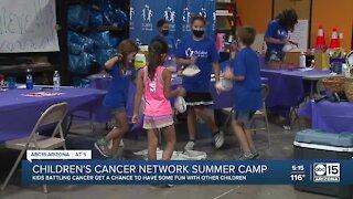 Kids battling cancer happy to return to Children's Cancer Network summer camp
