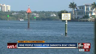 Nine people rescued from water