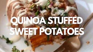 Quinoa Stuffed Sweet Potatoes - Recipe