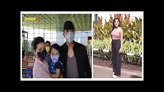 Spotted: Nushrat Bharucha & Shreyas Talpade with family at the Airport   SpotboyE