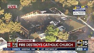 Fire destroys Phoenix church