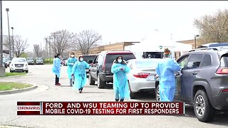 Ford, WSU teaming up to provide mobile COVID-19 testing for first responders