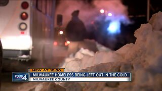 Homeless people told to go back to the street depending on the temperature
