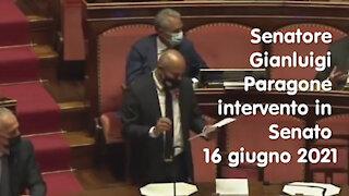 Senatore Gianluigi Paragone intervento in Senato il 16 giugno 2021