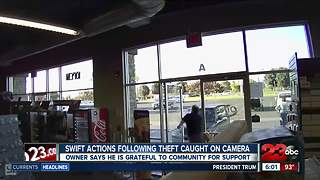 Local store owner jumps into action following theft