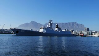 SOUTH AFRICA - Cape Town - Chinese Russian and SA Navy Vessels Leaving (Video) (DeH)
