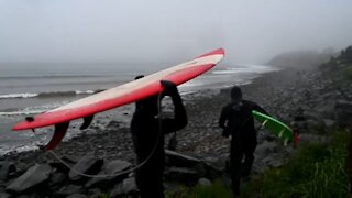 East Coast surfing gets boost from tropical storm Bill