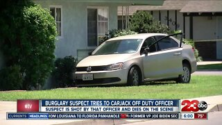 Burglary suspect tries to carjack off duty KCSO officer