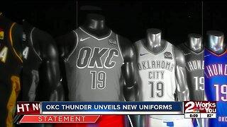 OKC Thunder unveil new uniforms