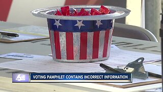Boise voter pamphlet contains incorrect information due to timing