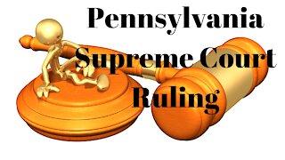 Pennsylvania Supreme Court Overturns Election Certification Block.