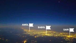 Fantastisk timelapse-video viser en pilot som filmer over Iran