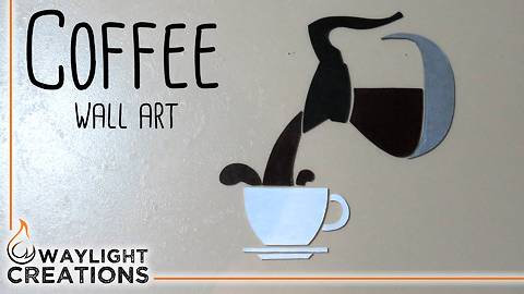 """Coffee """"wall art"""" DIY craft - Try it out yourself!"""