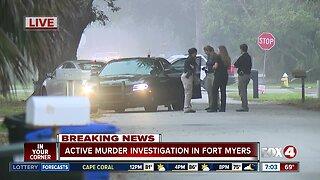 Active murder investigation underway in Fort Myers
