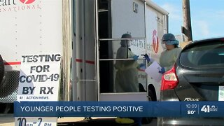 Younger people testing positive for COVID-19