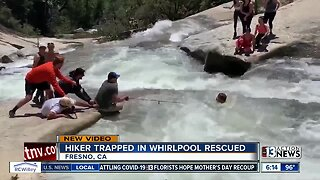 Shocking video: Hiker trapped in whirlpool